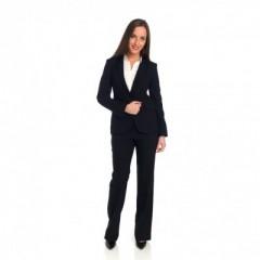 Pantalon noir avec veste et chemise (blanche) assorties