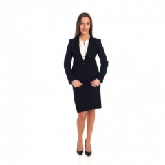 Black skirt with matching jacket and shirt (white)