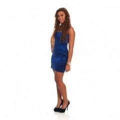 Blew Dress Glitter